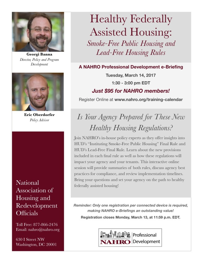 NAHRO Healthy Housing eB Flyer