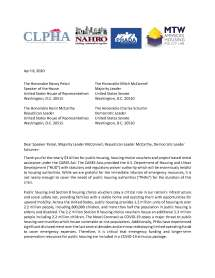 PHA Request Letter 1